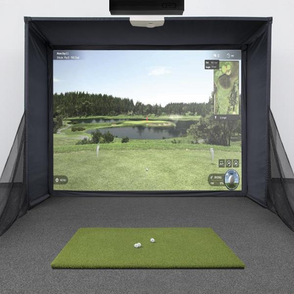 Uneekor QED SwingBay Golf Simulator Package